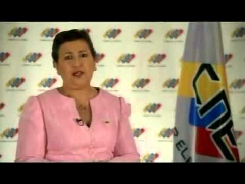 Tibisay Lucena, cadena del CNE del 27 de abril de 2013 indicando cómo se realizarán auditorías