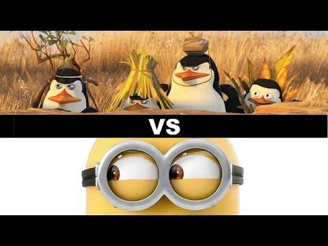 Penguins of Madagascar vs Minions Movie 2015  Beyond The