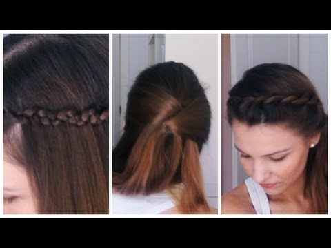 hair peinados fciles con trenzas pelo largo o media melena youtube