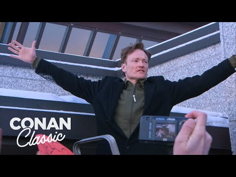 Conan Arrives In Finland