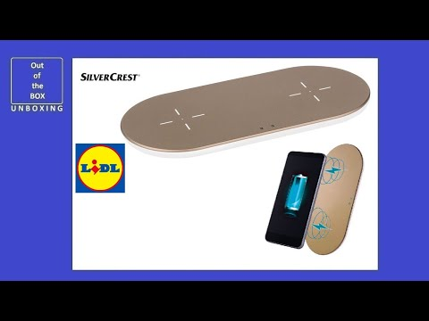 SilverCrest Wireless Qi Charger SDQWC A1 UNBOXING (Lidl  2 slots LED  10Watt 20Watt 5W 5V 3A)