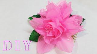 ♡ ❀ ♡ D.I.Y. Delicate Chiffon Flower - Tutorial ♡ ❀ ♡