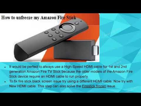 Amazon Fire Stick Black Screen
