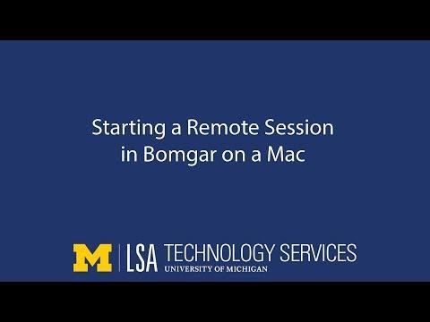 Starting A Remote Session Through Bomgar (Mac)
