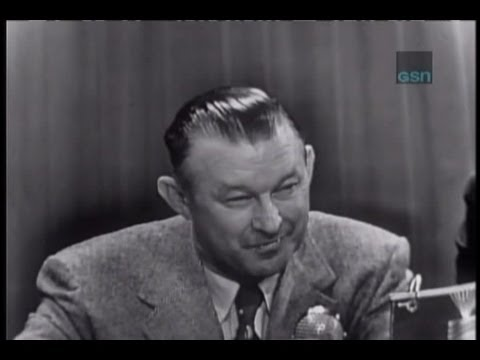What's My Line? - Chuck Dressen; Abe Burrows [panel] (Sep 28, 1952)