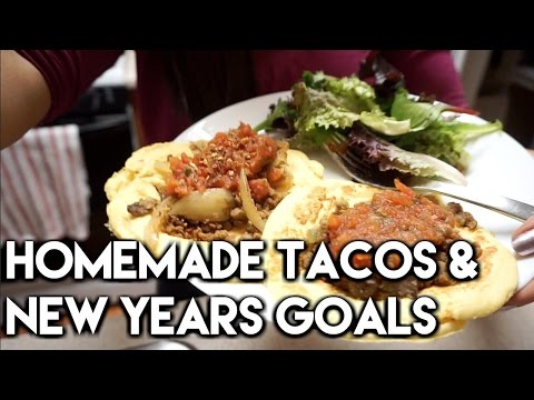 Full Day of Vegetarian Eating: Tortilla Recipe & New Years Goals