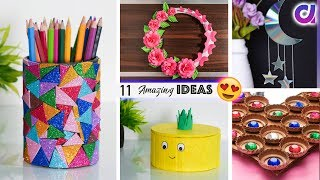 11 AWESOME LIVING ROOM DECOR || RECYCLING IDEAS || Artkala