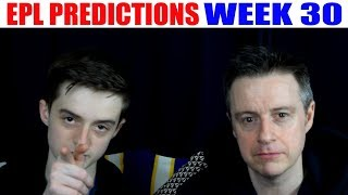 Premier League Score and Result Predictions Week 30 2017/18 EPL