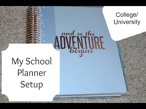 My School Planner Setup College University YouTube