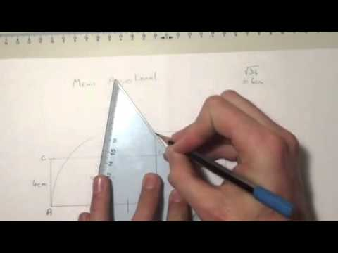 To construct a square of equal area to a rectangle using the mean proportional