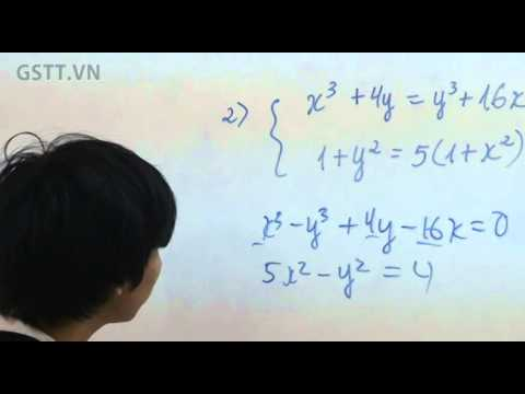 [TOÁN] Giải Phương Trình Bằng Phương Pháp Hệ Đẳng Cấp - GSTT.VN