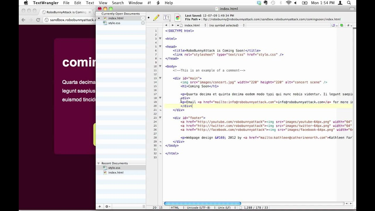 How do i separate different sections of my webpage using divs youtube - Div tag in html ...