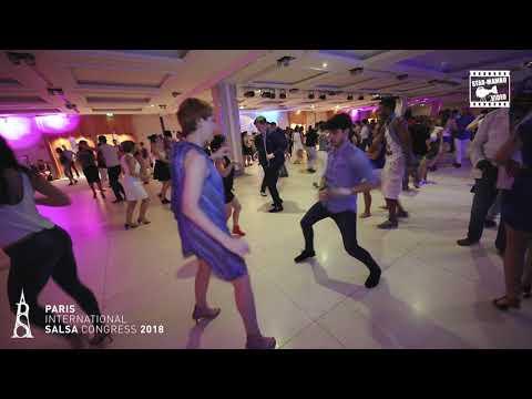 Gustavo \u0026 Lyubov - social dancing @ PARIS INTL SALSA CONGRESS 2018