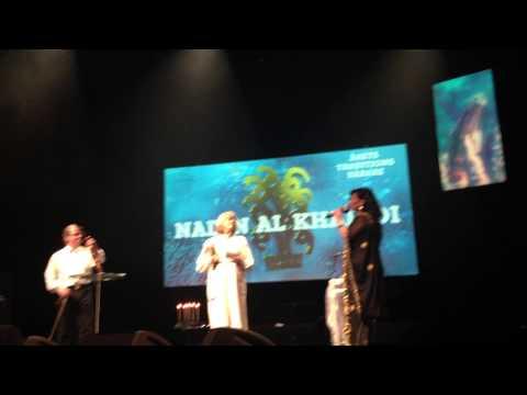 Nadin Al khalidi receiving Sweden's Tradition Bearer Prize 2014-Folk & World Music Awards