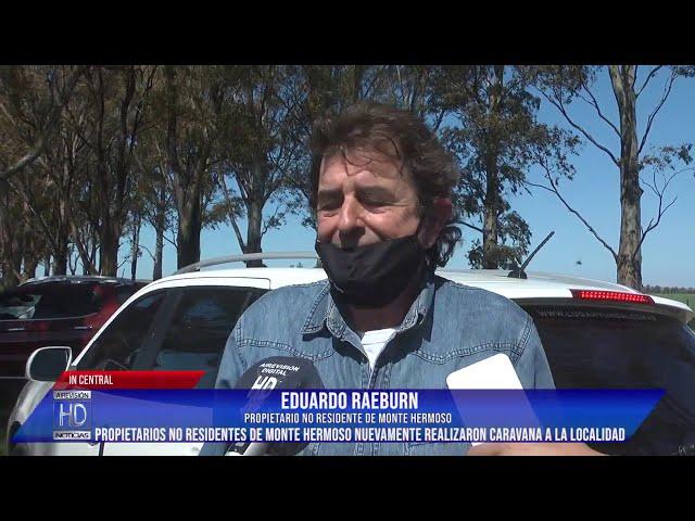 Propietarios no residentes realizaron caravana para ingresar a Monte Hermoso