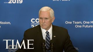 Mike Pence: ISIS 'Caliphate Has Crumbled' In Speech After U.S. Troops Killed In Syria Attack | TIME thumbnail