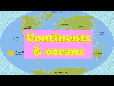 Названия материков и океанов на английском языке.