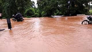 Floods in Hogenakal road 1
