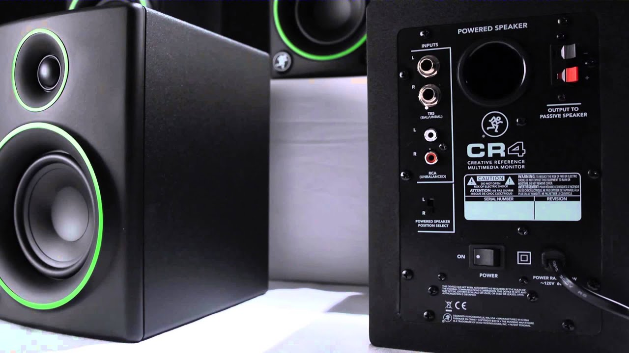 Mackie Cr Series 50w Active Multimedia Monitor Overview
