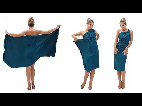 Платье в римском стиле на одно плечо (платье-трансформер Лунги)
