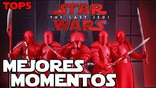 TOP5 Mejores momentos de Los Ultimos Jedi - Star wars en español