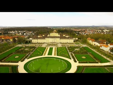 Beautiful  droneflight / City Ludwigsburg discovered with Phantom 3