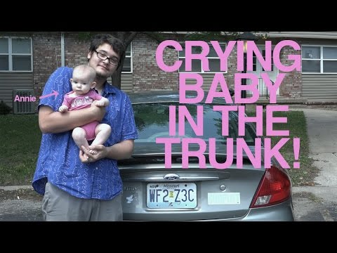 CRYING BABY IN TRUNK [PEOPLE REACT]