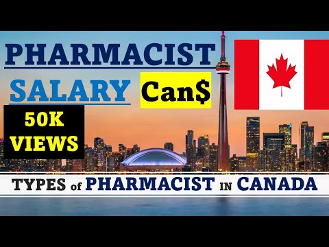 IN CANADA, TYPES OF PHARMACIST AND THEIR SALARY IN DIFFERENT SECTORS