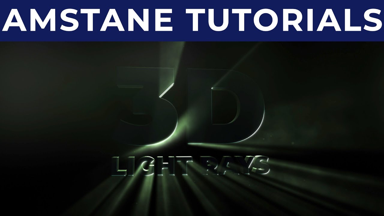 Download 3D Light Rays technique - fast preview and render - NO PLUGIN -  After Effects Tutorial