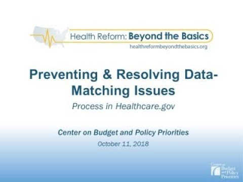 Webinar OE6: Preventing and Resolving Data-Matching Issues