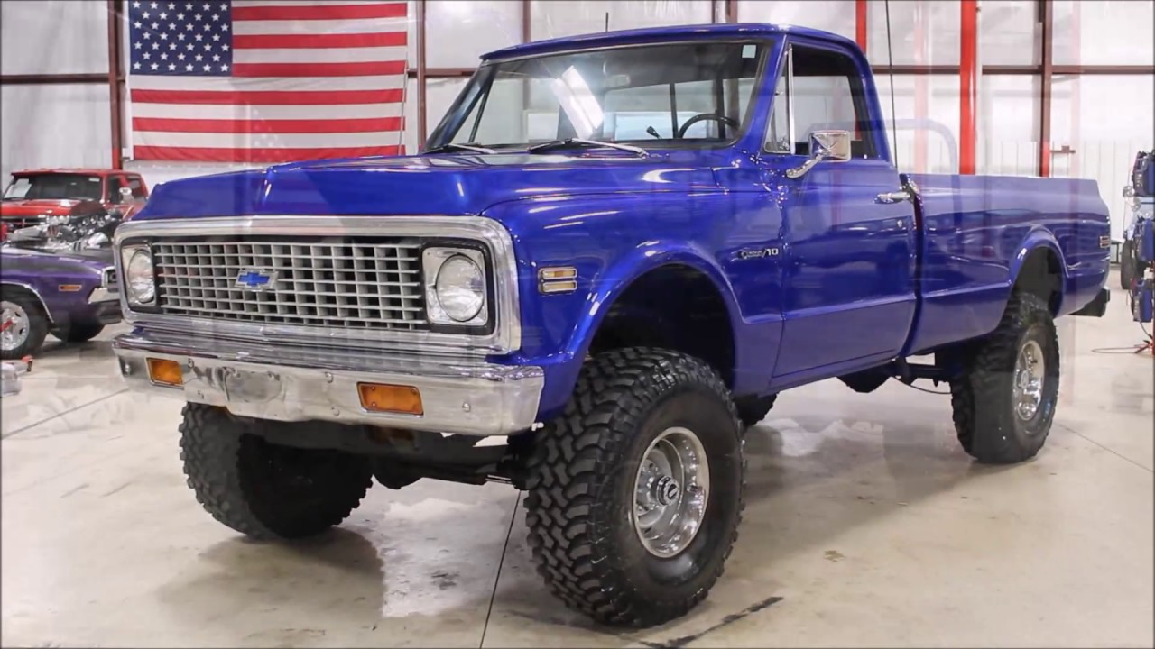 1970 Chevy C 10 blue - YouTube