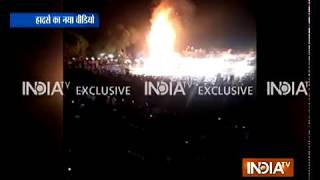 Exclusive footage shows speeding train ramming into group of people on eve of Dusshera