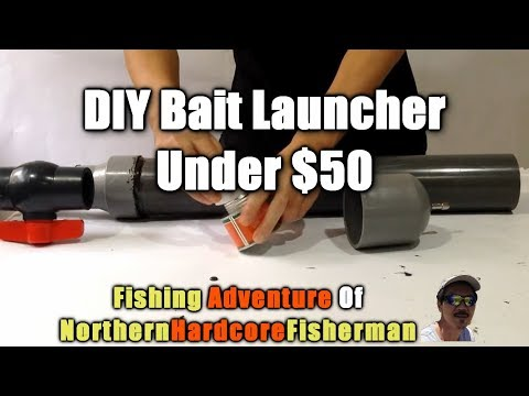 How to build a Compressed Air Bait Launcher for Fishing unde