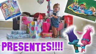 ABRINDO OS PRESENTES DE ANIVERSÁRIO!! (MUITA COISA!)