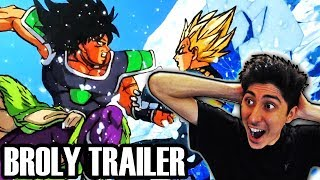 NEW DRAGON BALL SUPER BROLY MOVIE TRAILER REACTION! Official Dragon Ball Super Movie Broly Reveal!
