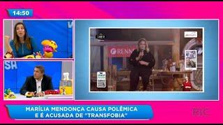 """Marilia Mendonça causa polêmica e é acusada de """"transfobia"""""""