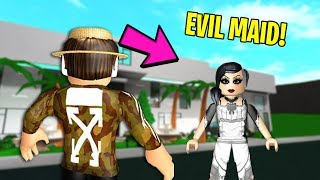 I hired A MAID for my MANSION... She DESTROYED my HOUSE! (Roblox)