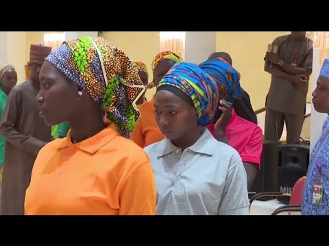 Видео освобождённых из плена «Боко Харам» нигерийских школьниц