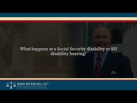 What is the Social Security disability hearing like?