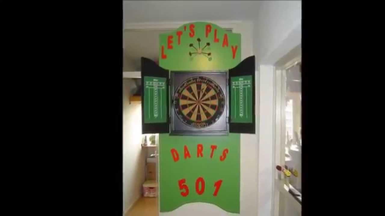 Dartbord Met Kast : Do it yourself doe het zelf darts cabinet dartkast