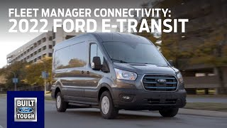 homepage tile video photo for The 2022 Ford E-Transit: Fleet Manager Connectivity | E-Transit | Ford