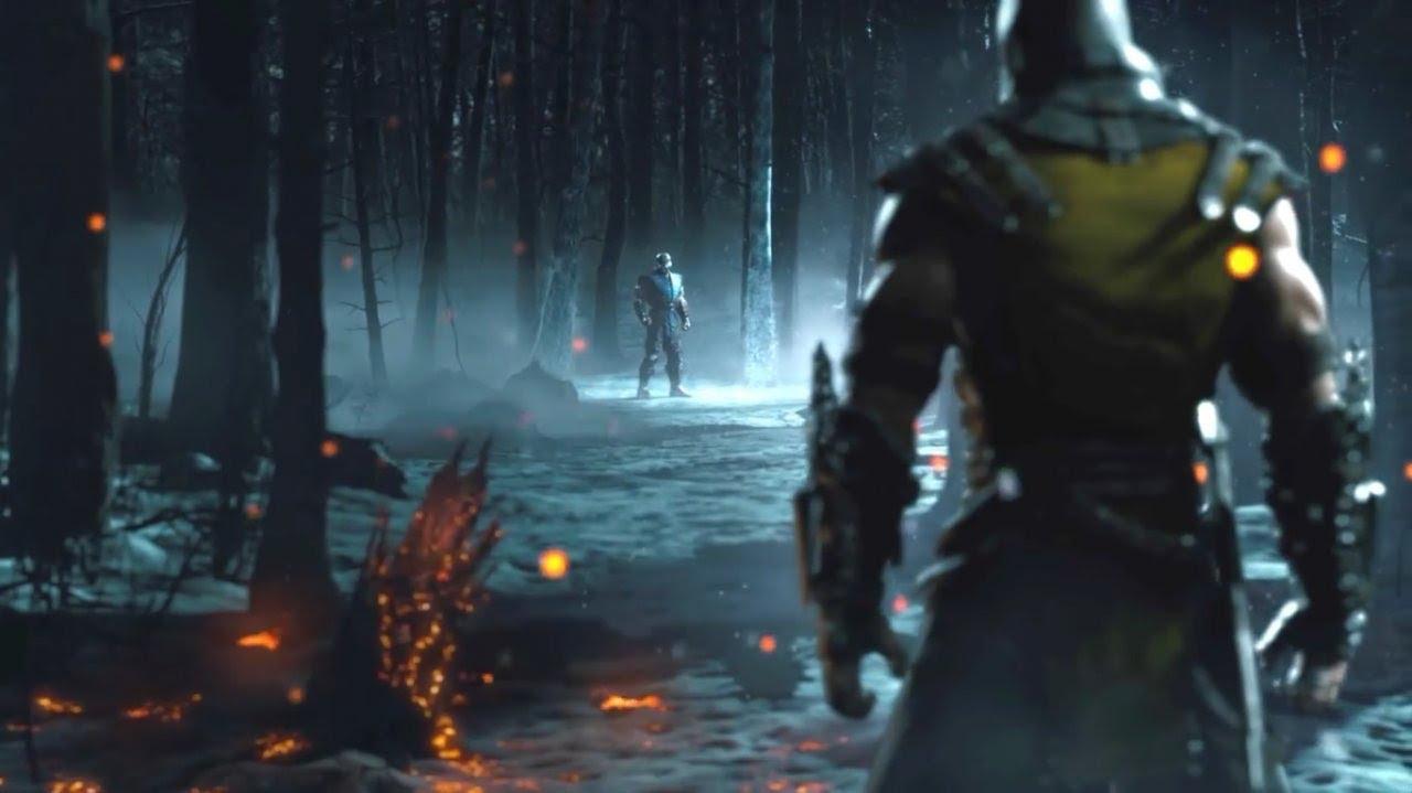 MORTAL KOMBAT X Sub zero vs Scorpion - Mortal Kombat Theme Song Original - YouTube