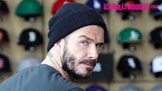 David Beckham Goes Off On Paparazzi While Out With His Son Brooklyn At New Era 2.18.16