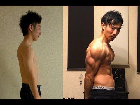 3年間公園トレーニングをした結果(自重2年+加重有り1年)/3Years Body Transformation with only Calisthenics