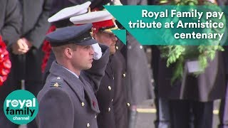 Royal Family pay tribute to war dead at Armistice centenary