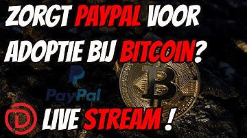 Zorgt Paypal Voor Adoptie Bij Bitcoin ?!  | Markt update Bitcoin en Aandelen !
