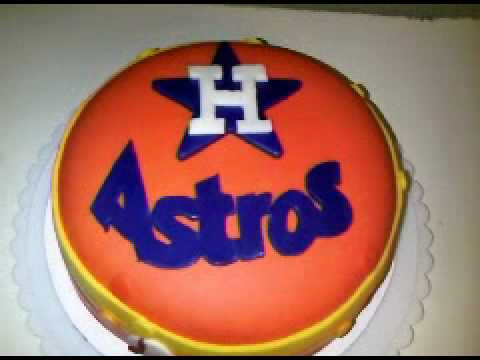 HOUSTON ASTROS ORIGINAL LOGO CAKE