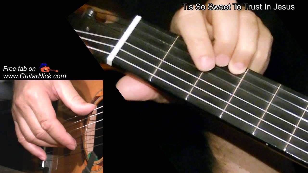 Tis So Sweet To Trust In Jesus Easy Guitar Lesson Tab By