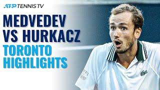 Amazing Points in Medvedev vs Hurkacz Thriller! | Toronto 2021 Highlights