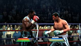 Mike Tyson v Joe Calzaghe Fight Night Round 4 Xbox 360 Game Play Boxing Video